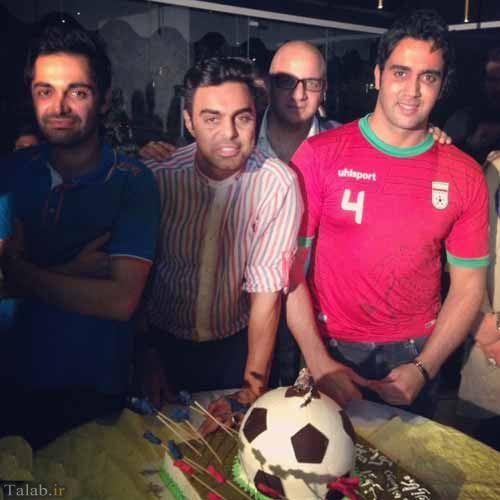 جشن تولد پوریا پورسرخ با کیک توپ جام جهانی