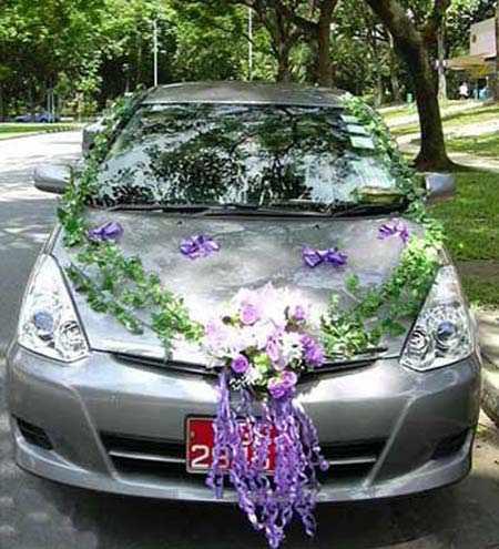 جدیدترین سبک های گل آرایی ماشین عروس