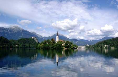 طبیعت زیبای رودخانه بلد در اسلوونی + تصاویر
