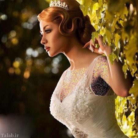 مدل های جذاب و زیبای شنیون و آرایش عروس
