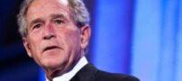 جرج بوش در بغل مادرش (عکس)