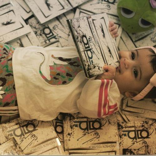 دختر محسن یگانه پشت شیشه شبنم زده (عکس)