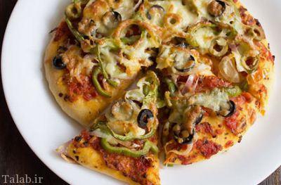 طرز تهیه پیتزا سبزیجات مخصوص و سالم