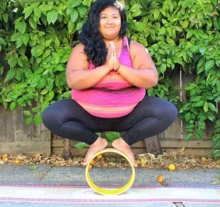 عکس های باورنکردنی از حرکات یوگای زن چاق