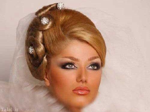 عکس های از مدل آرایش و شینیون موی عروس