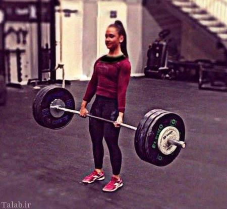 اندام زیبا و باورنکردنی دختر 18 ساله ورزشکار (عکس)