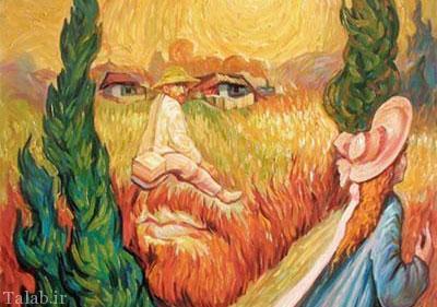 عکس های زیبا از نقاشی های چهره در چهره