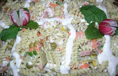 طرز تهیه سالاد ماکارونی به سبک دیگر