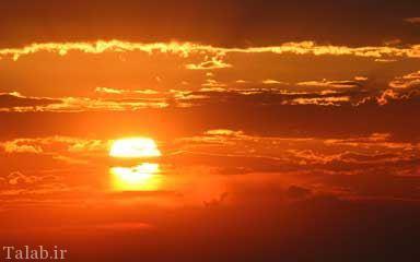 پیدایش عجیب دو خورشید در آسمان (عکس)