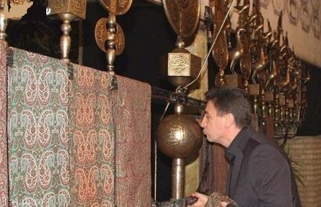امير قلعه نويي و علی پروین در عزاداری حسینی (عكس)