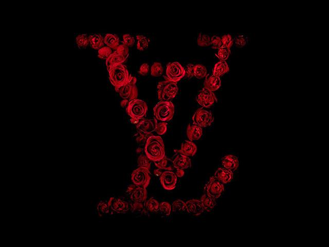 طراحی لوگو با استفاده از گل های قرمز رز
