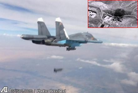 تصویر بمباران پایتخت داعش توسط یک زن روسیه ای