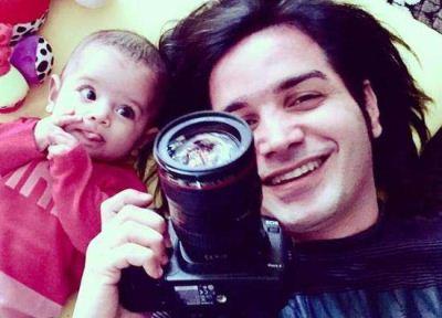 عکس سلفی جالب محسن یگانه و دخترش نگاه