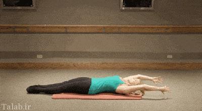 آموزش تصویری کوچک کردن شکم با چند حرکت ساده
