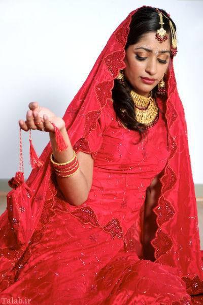 مدل آرایش زیبا و جذاب عروس هندی (2)