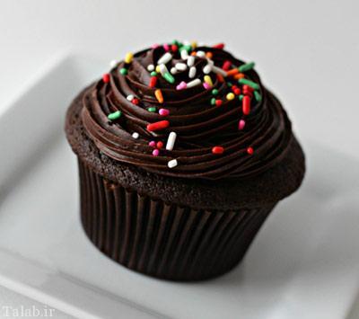 طرز تهیه کاپ کیک دبل چاکلت خوشمزه
