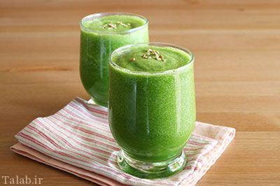 نوشیدنی سبز لاغر کننده درست کنید