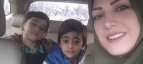 سلفی دیدنی المیرا شریفی مقدم و پسرانش