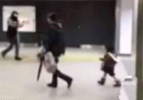 حمله این مادر سنگدل به دخترش در مترو + عکس
