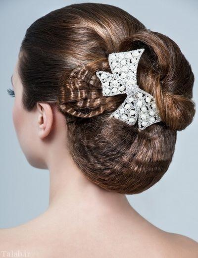 عکس های شینیون موی عروس