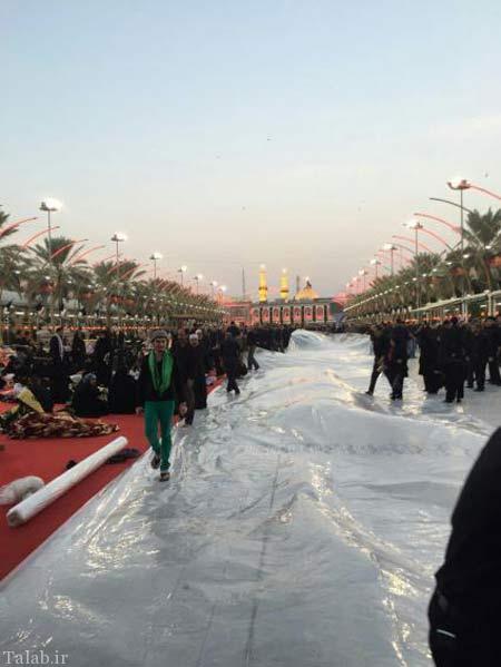 بین الحرمین برای مراسم قمه زنی عاشورا آماده است + تصاویر