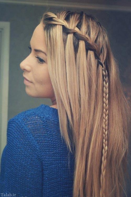 جدیدترین روش بستن و پیچیدن موهای بلند