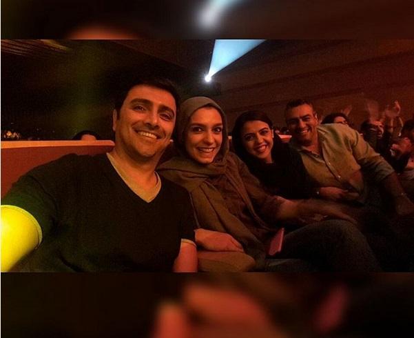 عکس امین زندگانی و همسرش در کنسرت امید حاجیلی