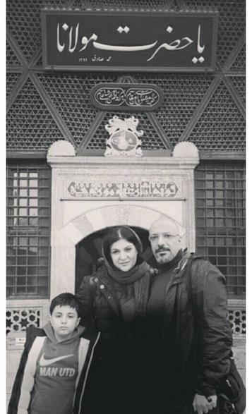 امیر جعفری و ریما رامین فر در کنار مقبره مولانا (عکس)