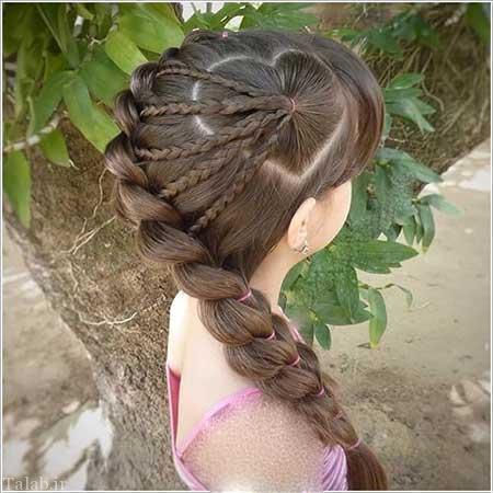 مدل موهای زیبای دختر بچگانه محفلی