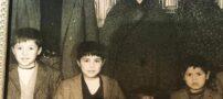 عکسی قدیمی از کودکی علی دایی در کنار پدر