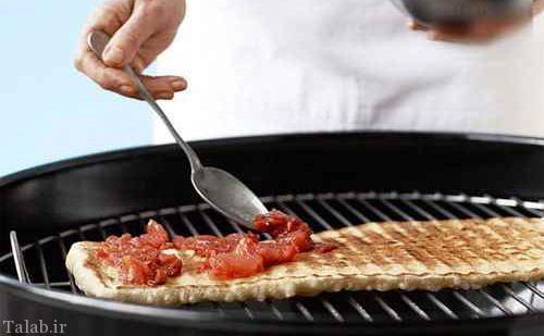 طرز تهیه پیتزا سبزیجات کبابی