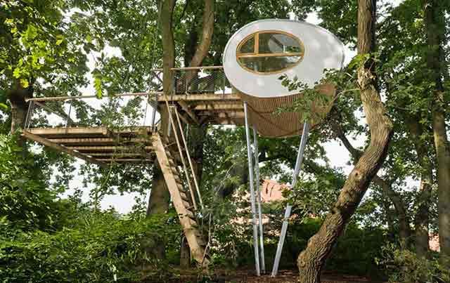 تصاویری از خانه درختی های زیبا و کودکانه