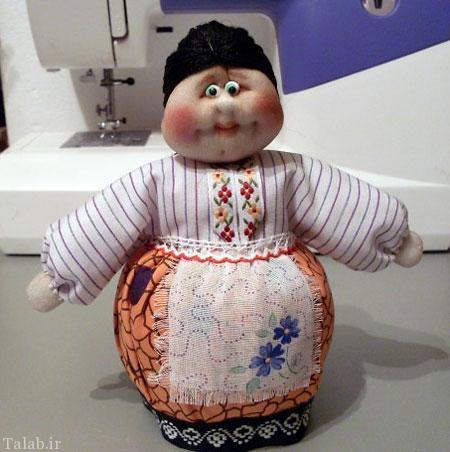 آموزش تصویری ساختن عروسک زیبای آشپزخانه