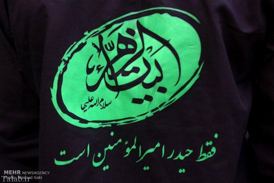 تصاویر جالب پرچم حرم حضرت زینب (س) در برج میلاد
