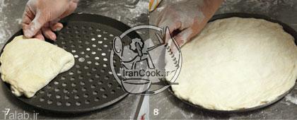 خمیر پیتزای ایتالیایی درست کنید