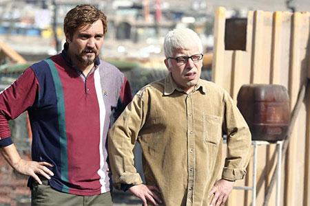 تصاویر دیدنی از پشت صحنه سریال آقا و خانم سنگی