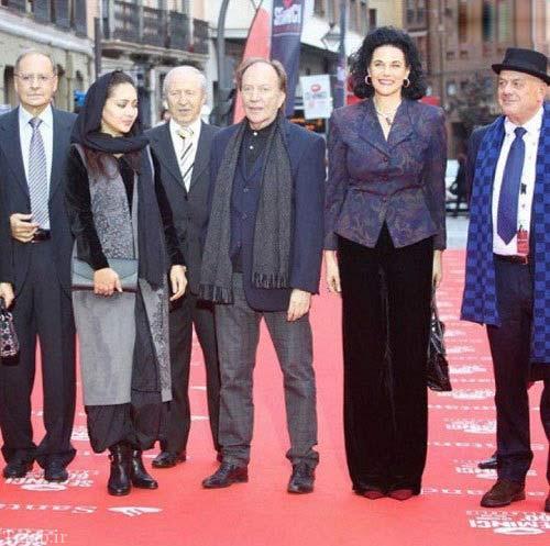 نیکی کریمی و پدرش در جشنواره فیلم اسپانیا (عکس)