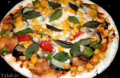 طرز تهیه پیتزا گوشت و بادمجان