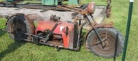 تصاویر جالب از تراکتوری که تبدیل به موتور سیکلت شد