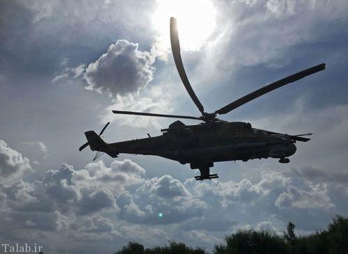 تصاویری از بالگردهای غولپیکر جنگی روسیه در سوریه