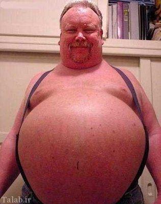 چاق ترین مرد دنیا را بشناسید (عکس)