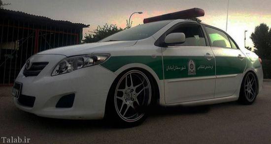 ماشین پلیس رینگ اسپرت و متفاوت ایرانی (عکس)