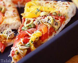 طرز تهیه پیتزا فلفل دلمه ای با کالری کم