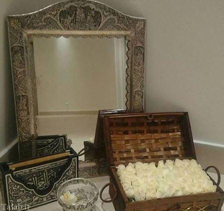 آینه شمعدان ازدواج دوم آزادی نامداری (عکس)