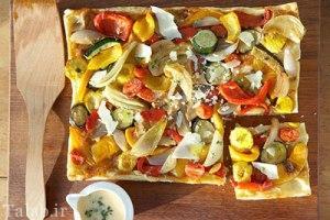 طرز تهیه پیتزا سبزیجات و کدو