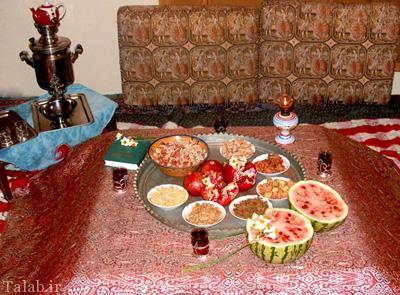 رسوم زیبای شب یلدا در شهر قزوین
