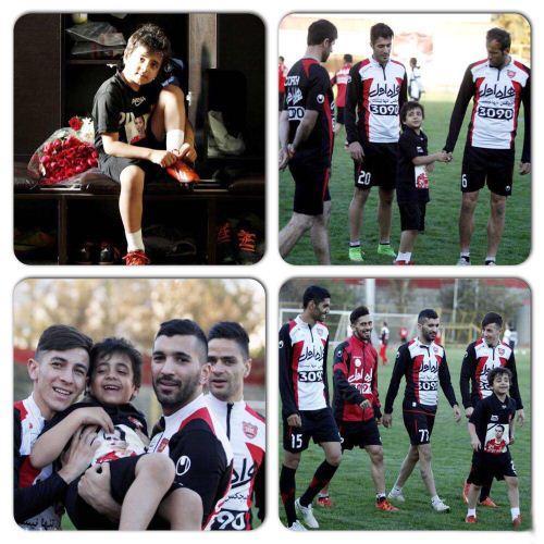 پسر هادی نوروزی در تمرینات تیم پرسپولیس (عکس)