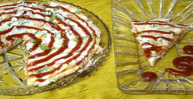 طرز تهیه پیتزا بدون نیاز به خمیر و فر