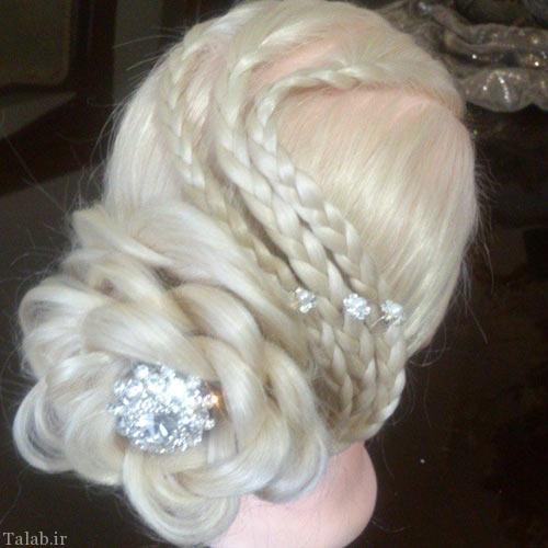 شینیون جذاب و جدید مو عروس
