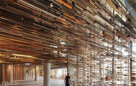 تصاویر ساختمان چوبی زیبا